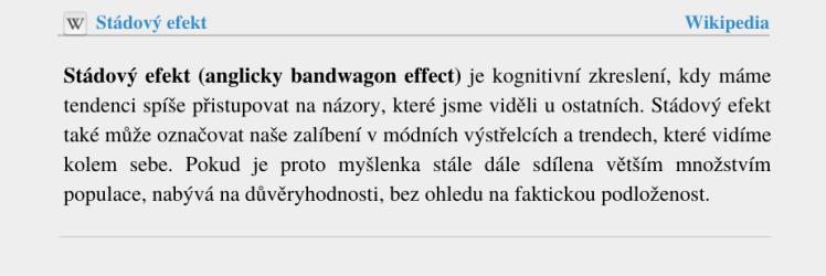 Stádový efekt - wikipedia